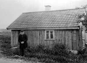 Första tranan sedd vid Hornborgasjön